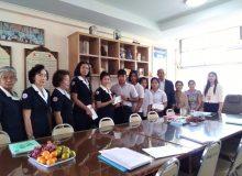 กาชาดเยี่ยมเยียนนักเรียนทุนในสมเด็จพระเทพฯ